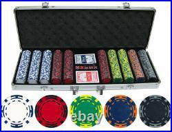 500 Piece 14g Z Striped Clay Poker Chips