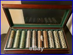 500 Rare 16 gram Brass Tangiers Poker Chips Insert Clay