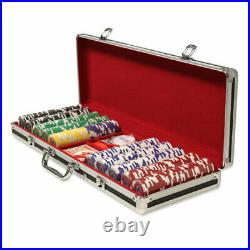 500 Tournament Pro 11.5g Clay Poker Chips Set with Black Aluminum Case Pick Chips