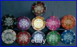 500 clay poker chips Triangle elite 14 gram choice of 10 denominations