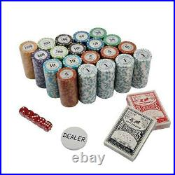 500ct Las Vegas Poker 14g Clay Poker Chips Set With Acrylic Case Pick Chips US