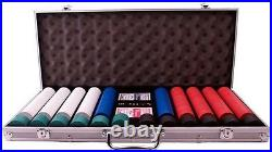 600 Pro Clay Poker Chips Set + Aluminum Chip Case