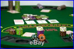 600ct. Rock & Roll Clay Composite 13.5g Poker Chip Set in Acrylic Case