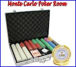 650pc 14g Monte Carlo Poker Room Clay Poker Chips Set With Aluminum Case