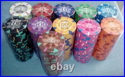 700 clay poker chips Triangle elite 14 gram choice of 11 denominations
