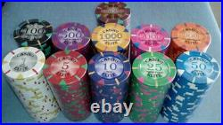 800 clay poker chips Triangle elite 14 gram choice of 11 denominations
