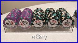 800ct Pharaoh's Club 10g High-End China Clay Poker Chip Set with Racks