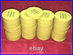 82 Vintage Las Vegas Hilton Casino Hhr Mold Yellow Poker Casino Roulette Chips