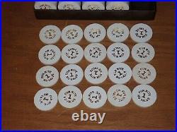 99x 1 Fun Nite No Value Paulson Top Hat & Cane Clay Poker Chips, Original Rack