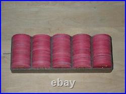 99x 5 Fun Nite No Value Paulson Top Hat & Cane Clay Poker Chips, Original Rack