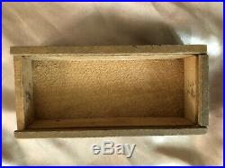 Antique Civil War Era Clay Poker Chips with Primitive Handmade Box with Sliding Lid