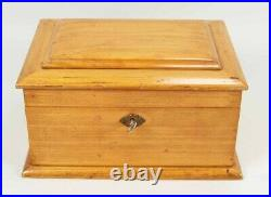 Antique Maltese Cross Clay Poker Chip set with Caddy and Key Storage Box WWI