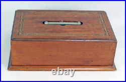 Antique Maltese Star Clay Poker Chip set with Caddy and Key Storage Box WWI