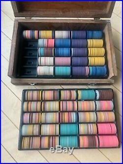 Antique Vintage Clay Poker Chip Set 900 pc 9 color and design