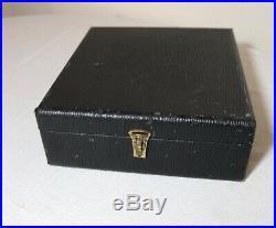 Antique vintage clay chip wood hard box case poker gambling box gaming set