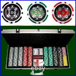 Brybelly 500 Count Ace Casino Poker Set 14 Gram Clay Composite Chips with Alum