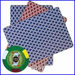 Brybelly 500 Count Kings Casino Poker Set 14 Gram Clay Composite Chips with