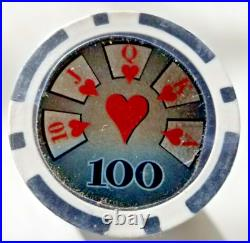 Bulk Lot of 1000 High Roller 14g Clay Poker Chips Pick Denominations