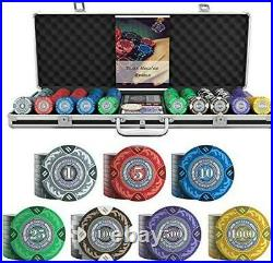 Bullets Playing Cards Poker Case'Tony' With 500 Clay Poker Chips Premium For