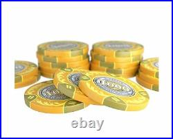 Bullets Playing Cards Poker Case'Tony' with 500 Clay Poker Chips Premium p