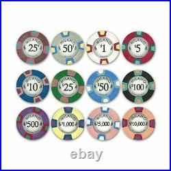 Claysmith Gaming 1,000 Ct Milano Set 10g Casino Clay Chips with Acrylic Dis