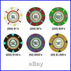 Claysmith Gaming 1,000 Ct The Mint Poker Set 13g Clay Composite Chips with
