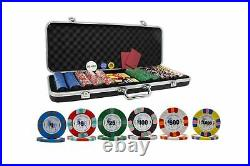 DA VINCI Unicorn All Clay Poker Chip Set with 500 Authentic Casino Weighted 8