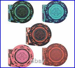 Designer Poker Case Corrado Deluxe Poker Set with 500 Clay Poker Chips