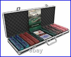 Designer Poker Case Corrado Deluxe Poker Set with 500 Clay Poker Chips, Pok