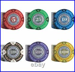 Designer Poker Case Tony Deluxe Poker Set with 300 Clay Poker Chips, Poker