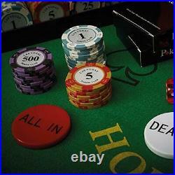 Exclusive Poker Set 300 pcs, 14 Gram Clay Poker Chips for Texas Holdem, Black J
