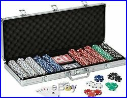 Fat Cat 11.5 Gram Texas Hold'em Clay Poker Chip Set with Aluminum Case 500 S