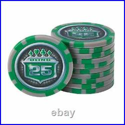 Fat Cat Bling 13.5 Gram Texas Hold'em Clay Poker Chip Set with Aluminum Case, 5