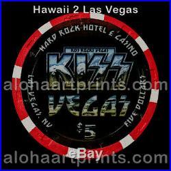 Hard Rock Casino KISS $5 Paulson Clay Poker Chip VERY RARE