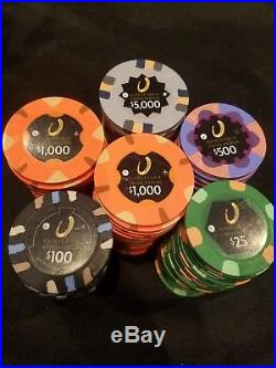 Horseshoe Cleveland casino poker chip 20 person 10k tournament set! Real clay