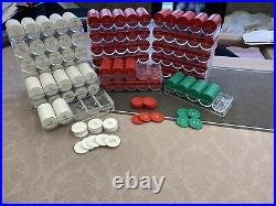 Huge Lot 2000+ Poker Chips Home Game White/Red/Green Clay Composite $1 $5 $25