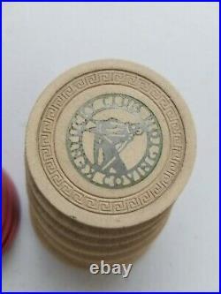 Illegal Gambling Chips Casino Kentucky CLUB 1940's Poker Clay