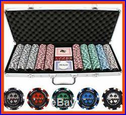 JP Commerce 500 PC Pro Poker Clay Set Sports