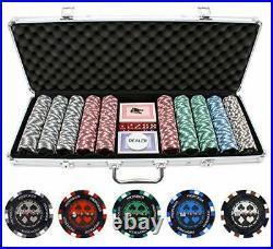 JP Commerce 500 Piece Pro Poker Clay Poker Set