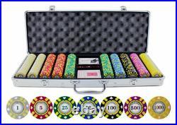 JP Commerce 500-stripe-suited-V2 13.5g 500pc Stripe Suited V2 Clay Poker Chips S