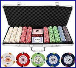 JPC 13.5g 500pc Monaco Casino Clay Poker Chips Set