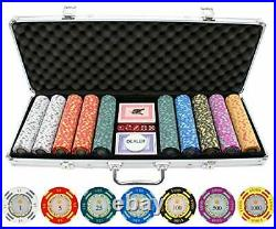 JPC 500 Piece Crown Casino 13.5g Clay Poker Chips Free Shipping