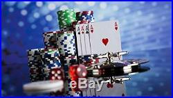 KAILE Clay Poker Chips Set Heavy Duty 13.5 Gram Chips Texas Holdem (300pcs)