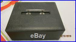 Lot Of 309 Vintage CLAY POKER CHIPS red creme blue & holder