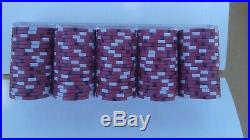 Lot of 540 Red Majestic Card Room Clay Poker Chips