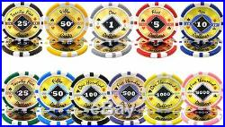 NEW 1000 Black Diamond 14 Gram Clay Poker Chips Set Acrylic Carrier Case Custom