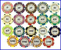 NEW 1000 Monte Carlo Smooth 14 Gram Clay Poker Chips Bulk Pick Your Chips