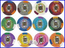 NEW 1000 PC King's Casino 14 Gram Pro Clay Poker Chips Bulk Lot Pick Your Chips