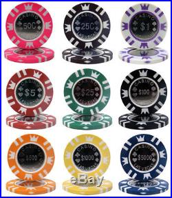 NEW 1000 Piece Coin Inlay 15 Gram Clay Poker Chips Bulk Lot Pick Denominations