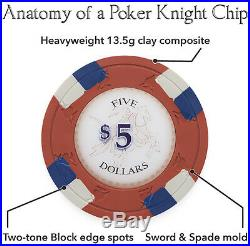 NEW 400 PC Poker Knights 13.5 Gram Clay Poker Chips Bulk Lot Mix or Match Chips